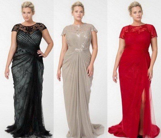 Стильные платья вечерние для полных