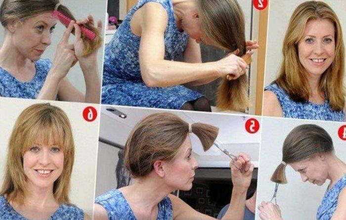 Как самой сделать стрижку лесенкой