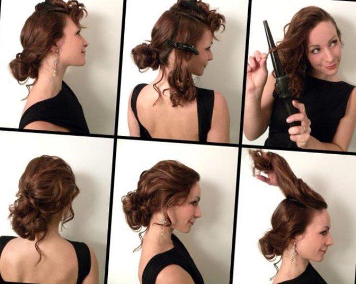 Легкие вечерние прически на длинные волосы своими руками фото 94