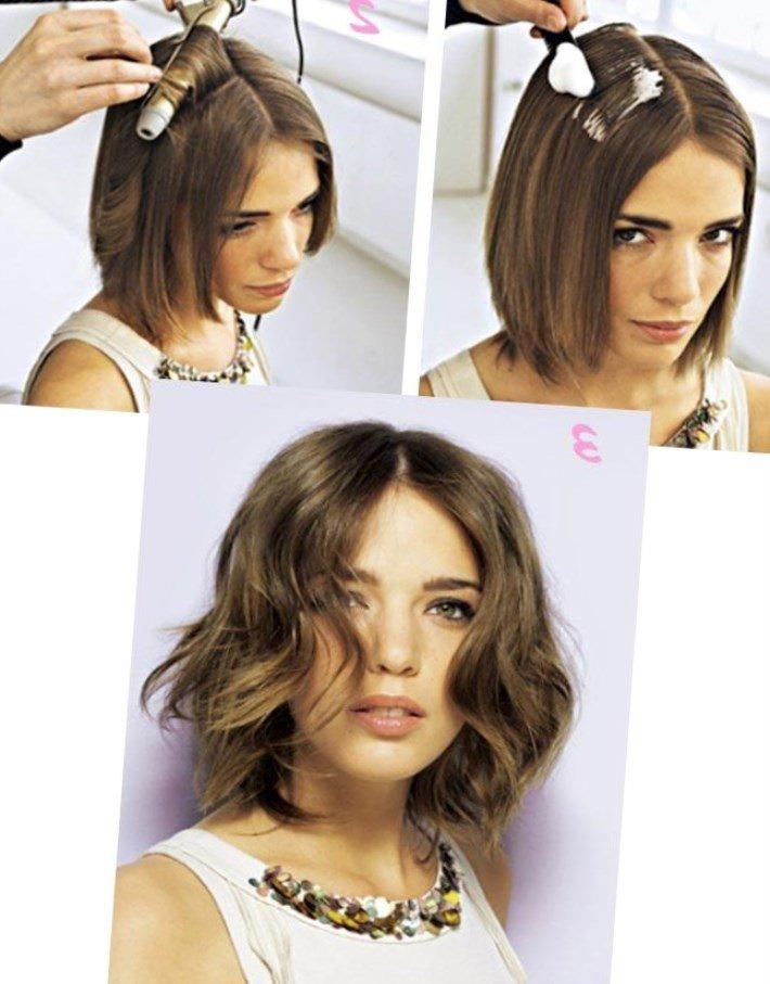 Как сделать объёмную причёску на короткие волосы 321