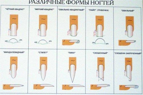 Как придать форму ногтям в домашних условиях квадратная 932