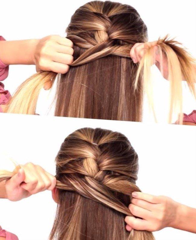 Как сделать колосок на своих волосах 416
