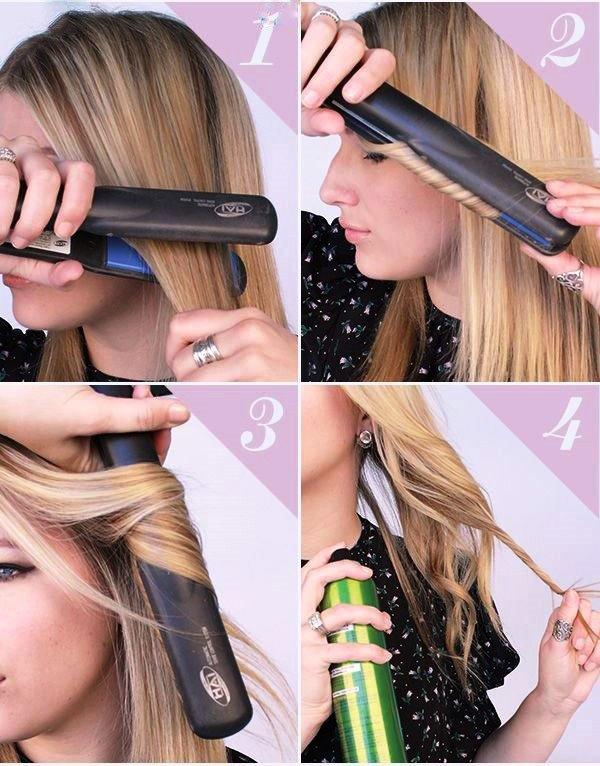 Как сделать кудри выпрямителем на длинные волосы