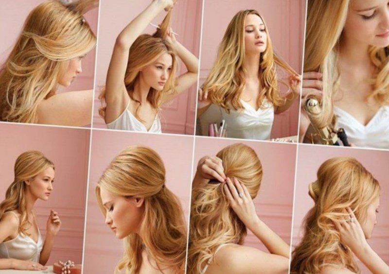 Прически на день рождения своими руками на средние волосы самой себе 44