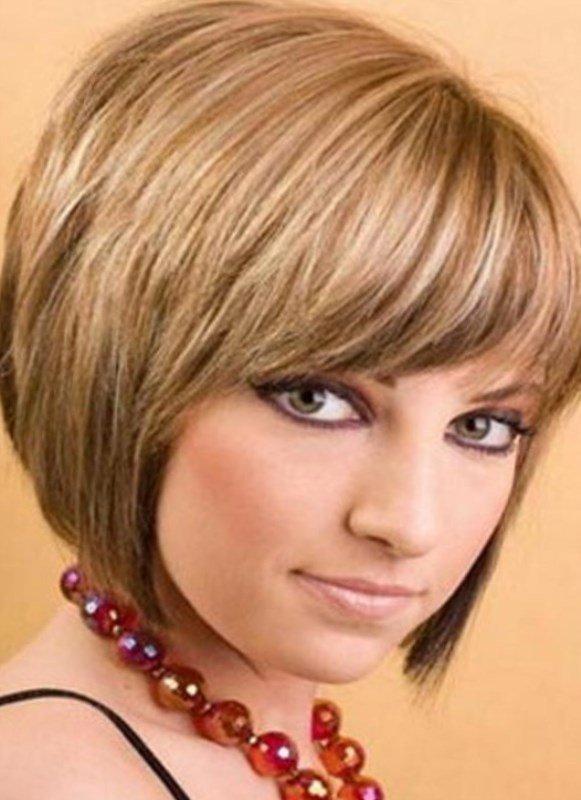 Стрижка каре для тонких волос с челкой