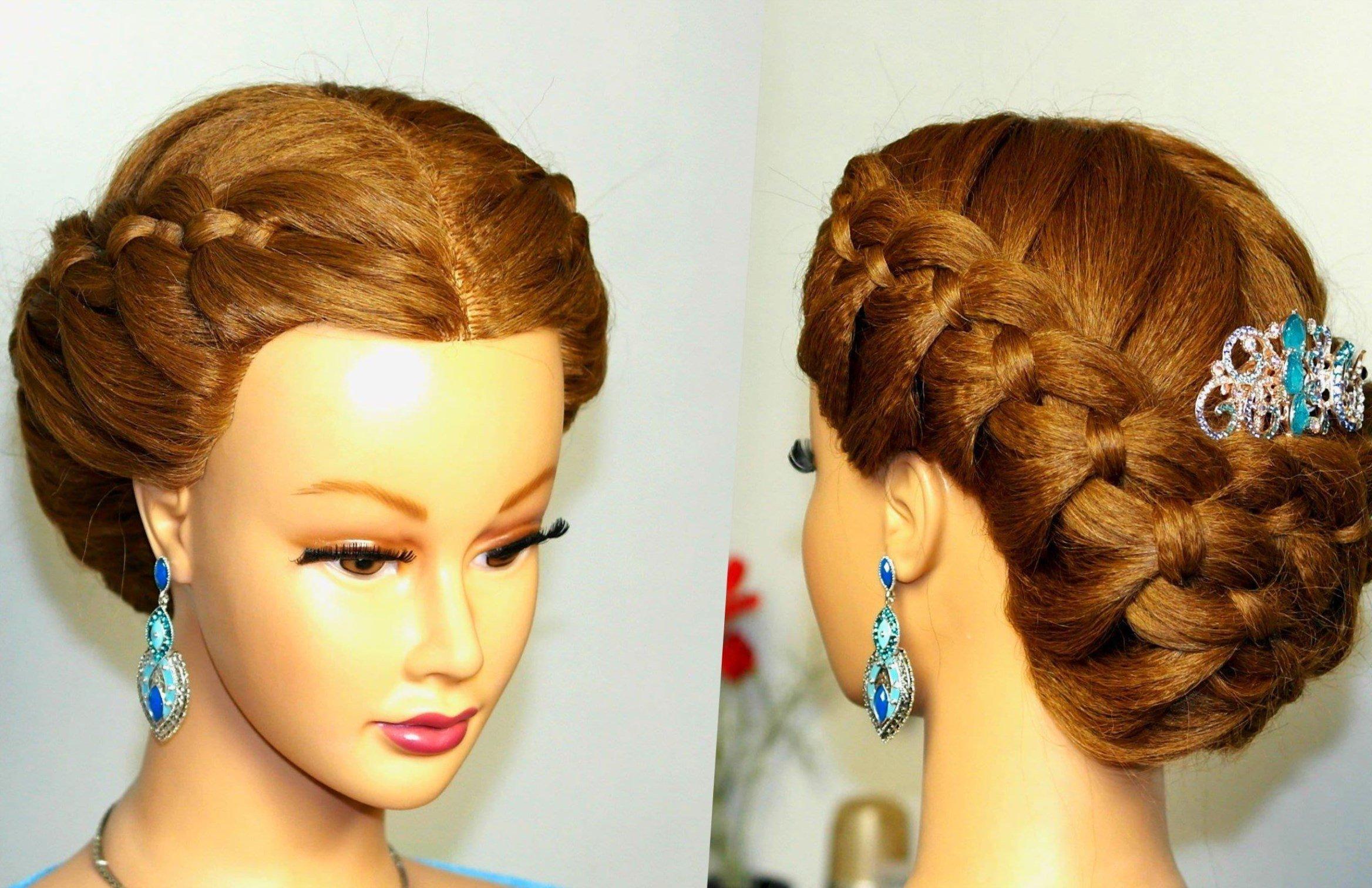 Прически с заплетением волос