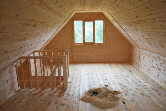 Как сделать второй этаж в деревянном доме своими руками 548