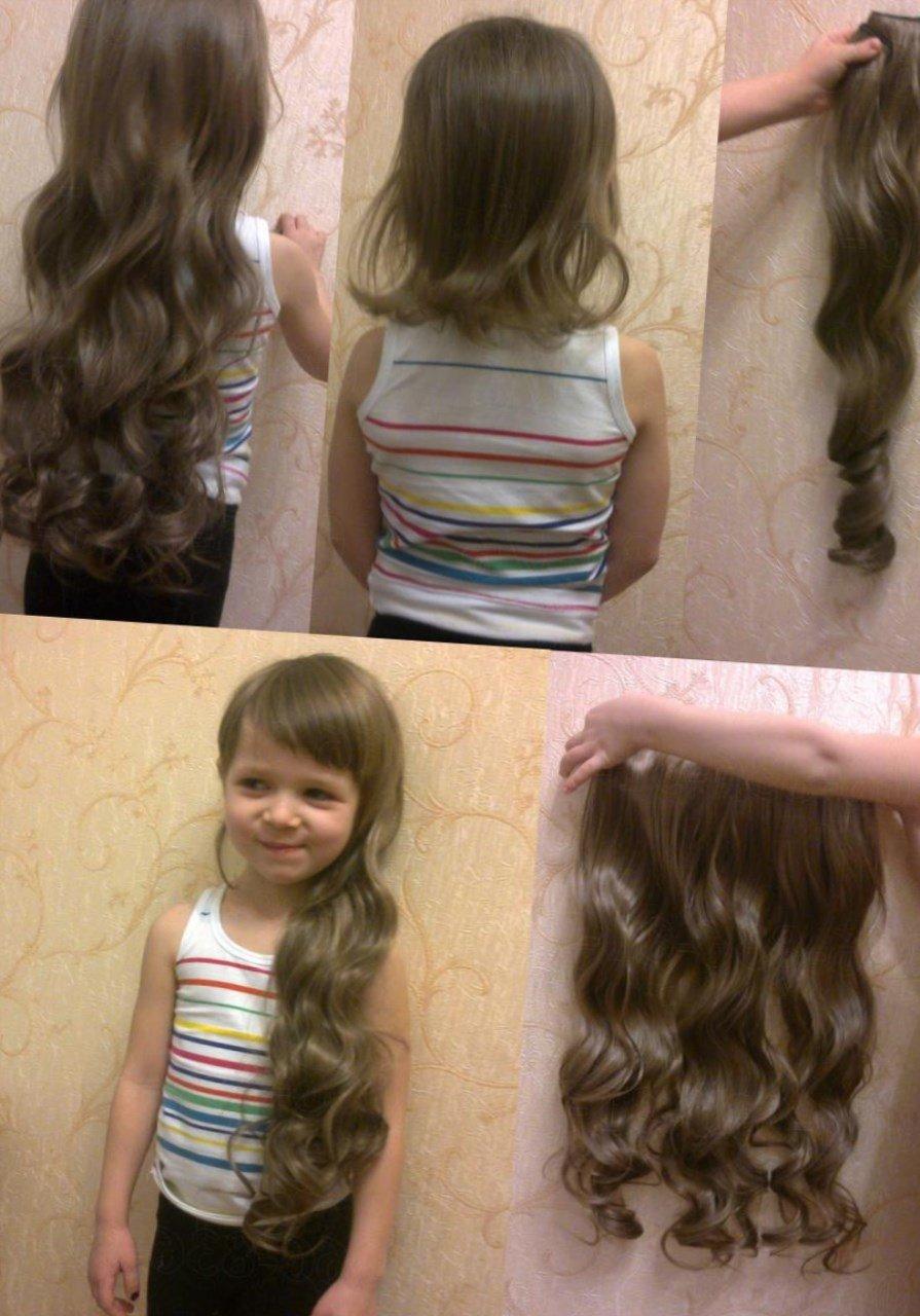 Накладные волосы на заколках прически на каждый день фото