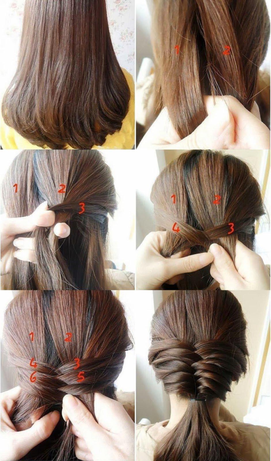 Этапы причесок на длинных волосах