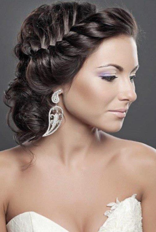 Праздничная прическа на редкие волосы фото