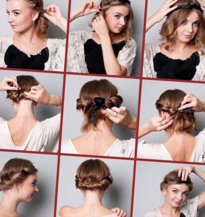 Как сделать прическу с помощью греческой повязки на длинные волосы