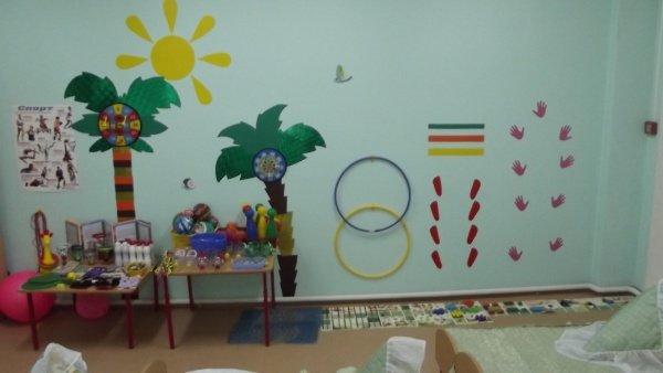 Оформление спортивный уголок в детском саду своими руками по фгос