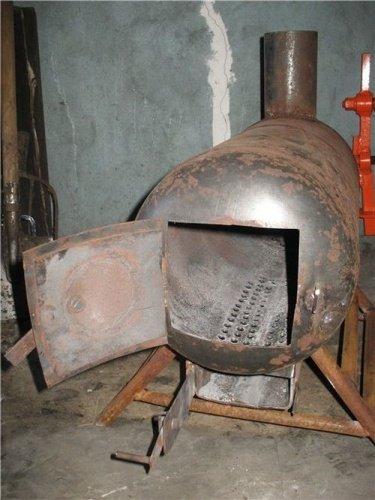 Как сделать печь в гараж