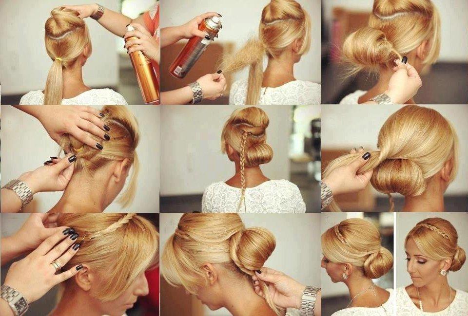 легкие прически на средний волос фото