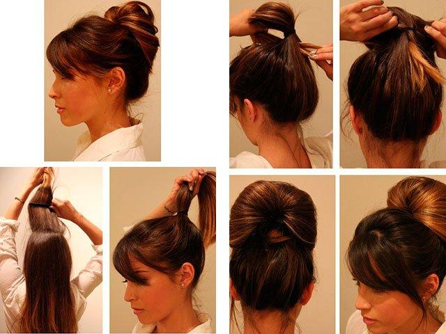 Простая и быстрая прическа из длинных волос
