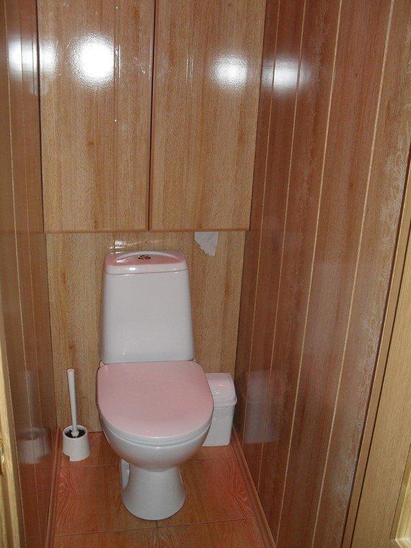 Туалет из пластиковых панелей своими руками