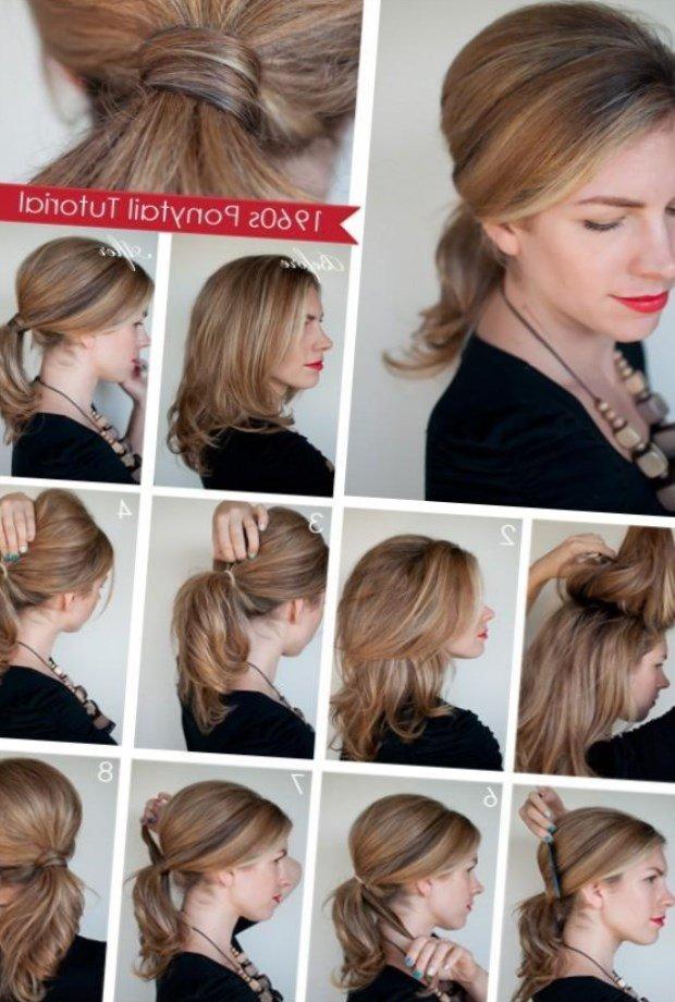Интересные прически для средних волос своими руками