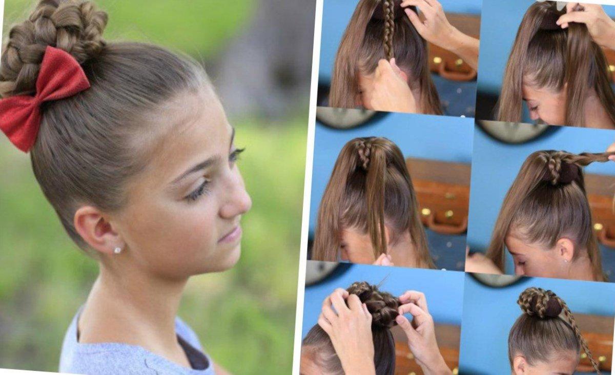 Как сделать шишку из волос на себе 150