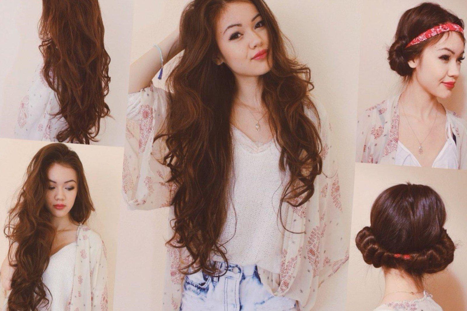 Как сделать на длинных волосах крупные локоны фото