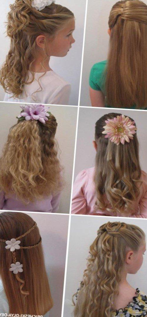 Причёска для девочки с распущенными волосами6
