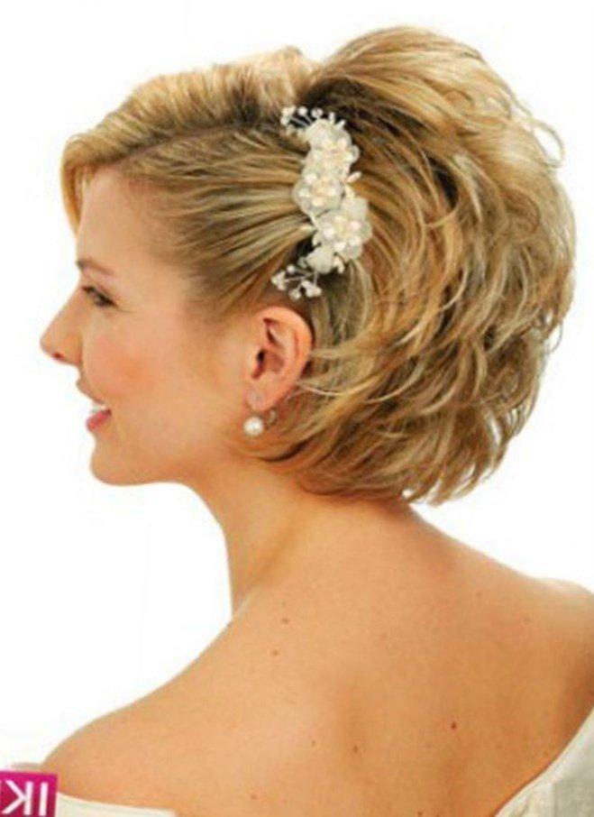 Свадебная прическа на короткие волосы своими руками фото 30