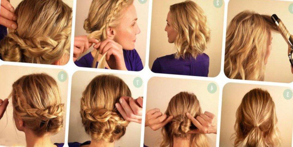 Как сделать красивую прически на волосы до плеч