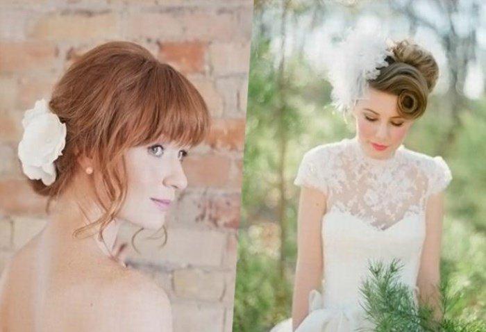 Прически с каре на свадьбу фото