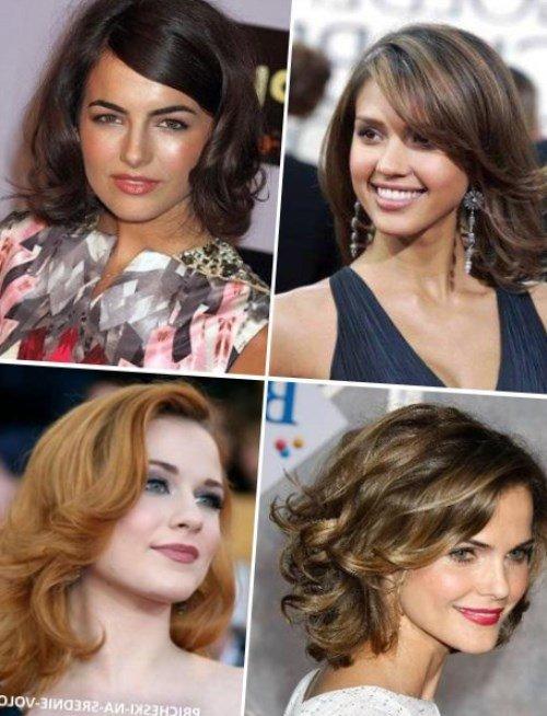 Причёски под средние волосы