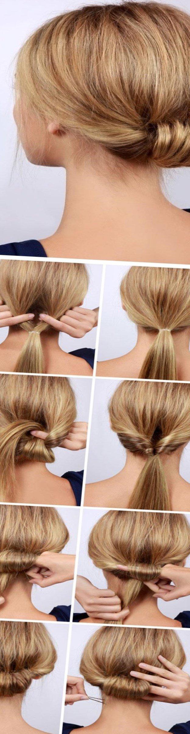 Причёски на длинные волосы своими руками на каждый день 72