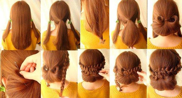 Плетение кос с челкой фото