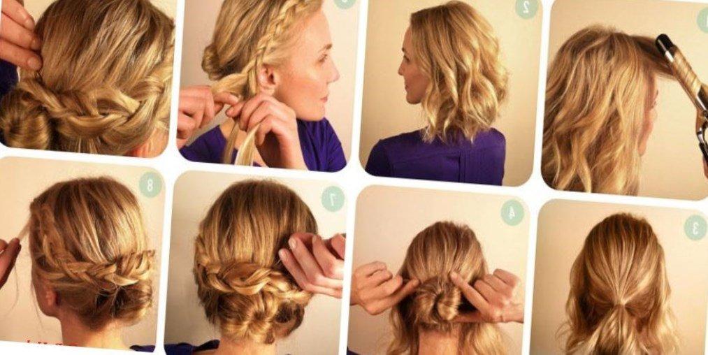 Как сплести прически на короткие волосы