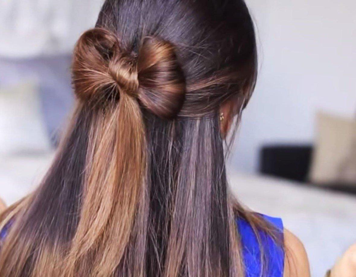Как сделать причёску бант из волос фото