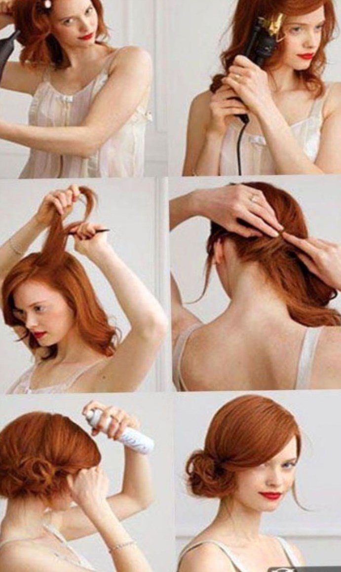 Как сделать прическу на волосы длиной до плеч 616