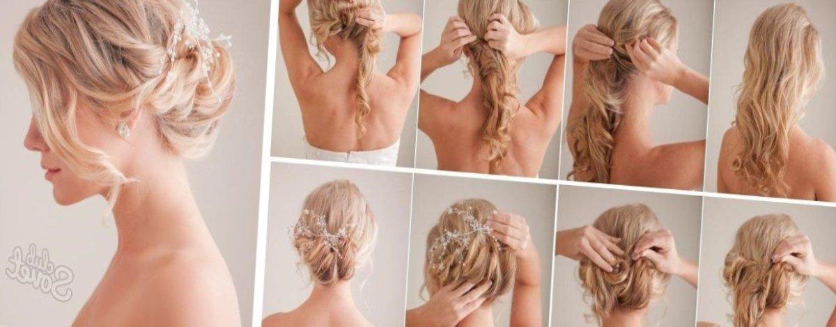 Заколоть волосы средней длины в домашних условиях 625