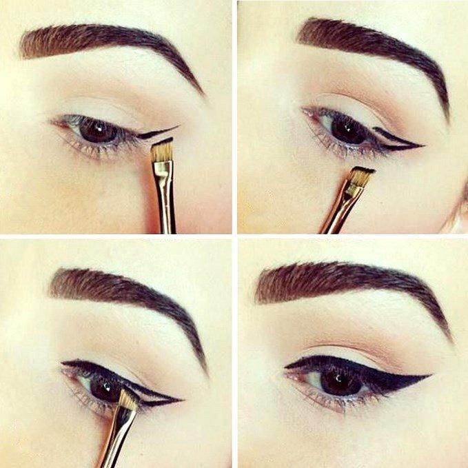 Как сделать красивый стрелки макияжа