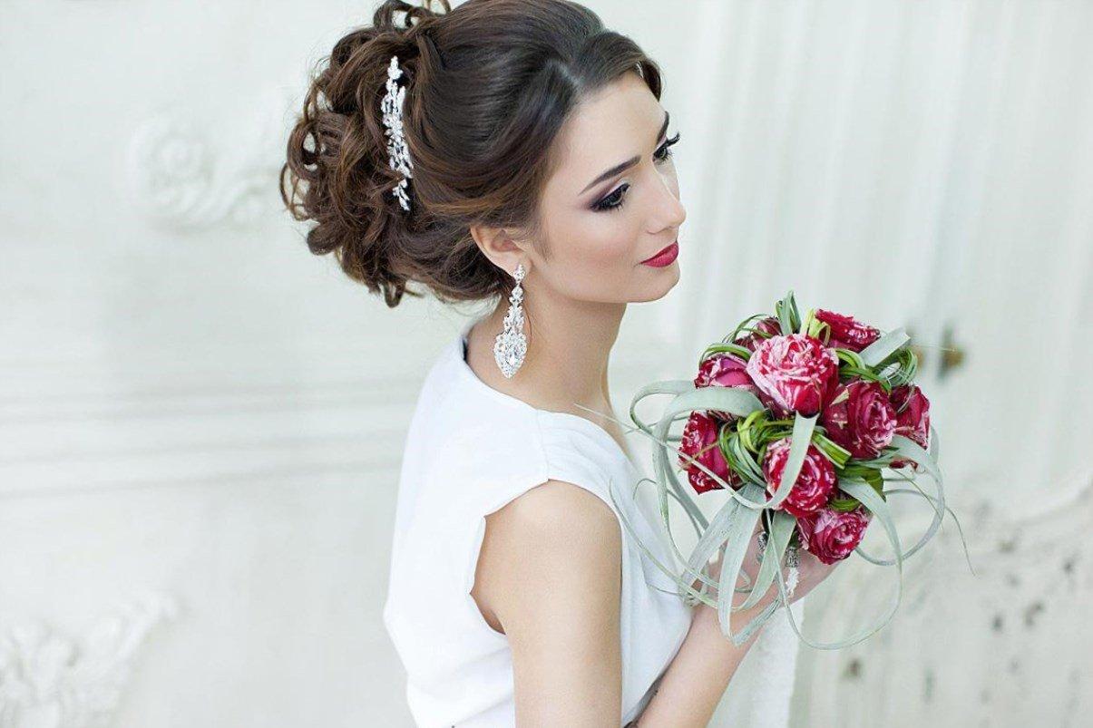 Пучок свадебный с фатой