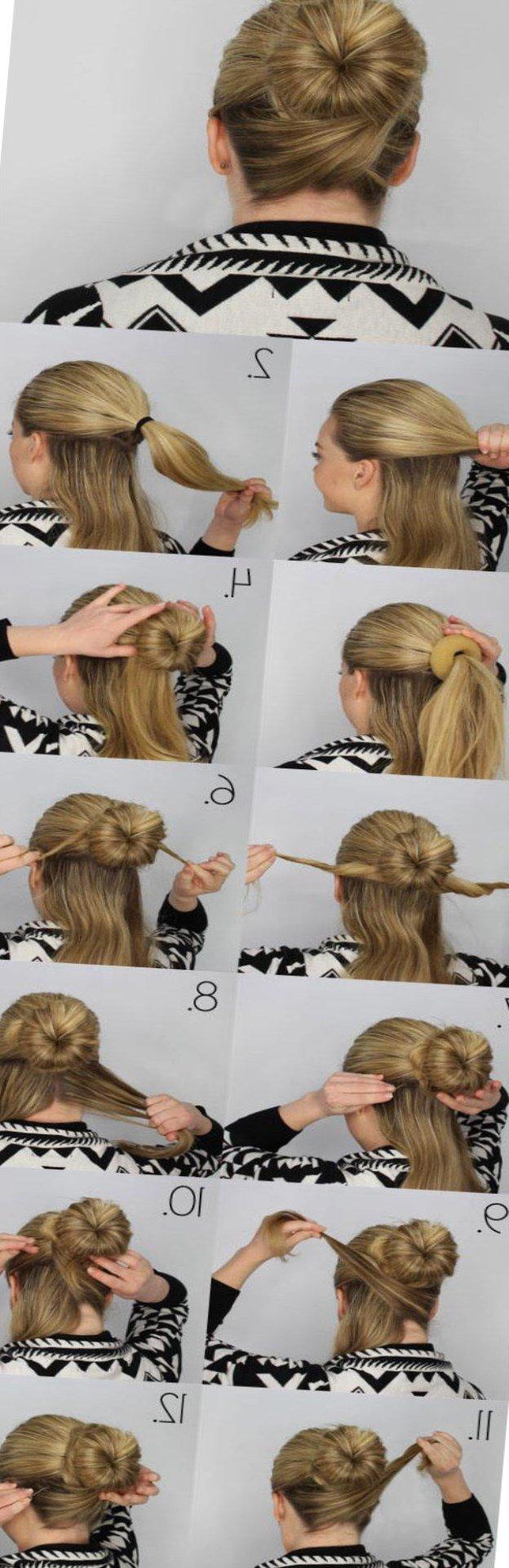 Как сделать гульку если волосы длинные и 415