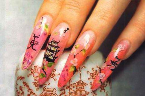 Китайские рисунки на ногтях