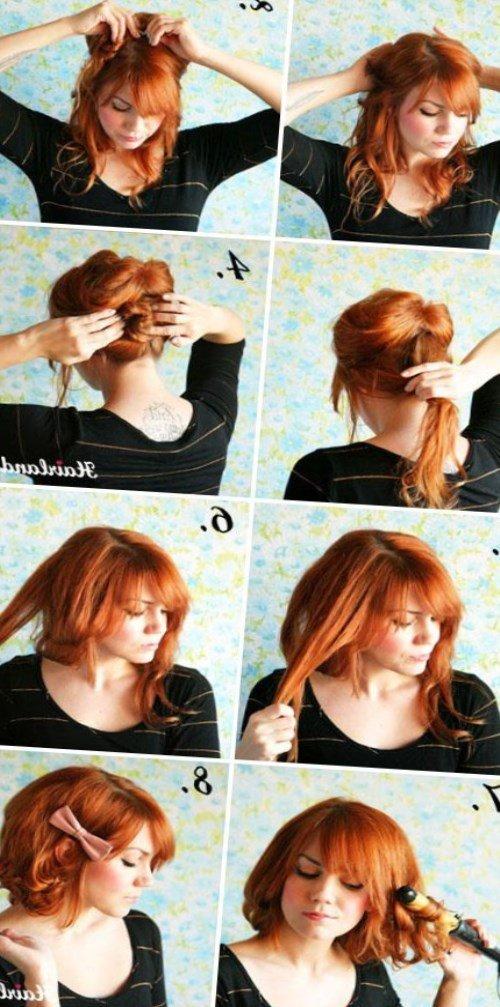 Как сделать прическу из каре с кудрями