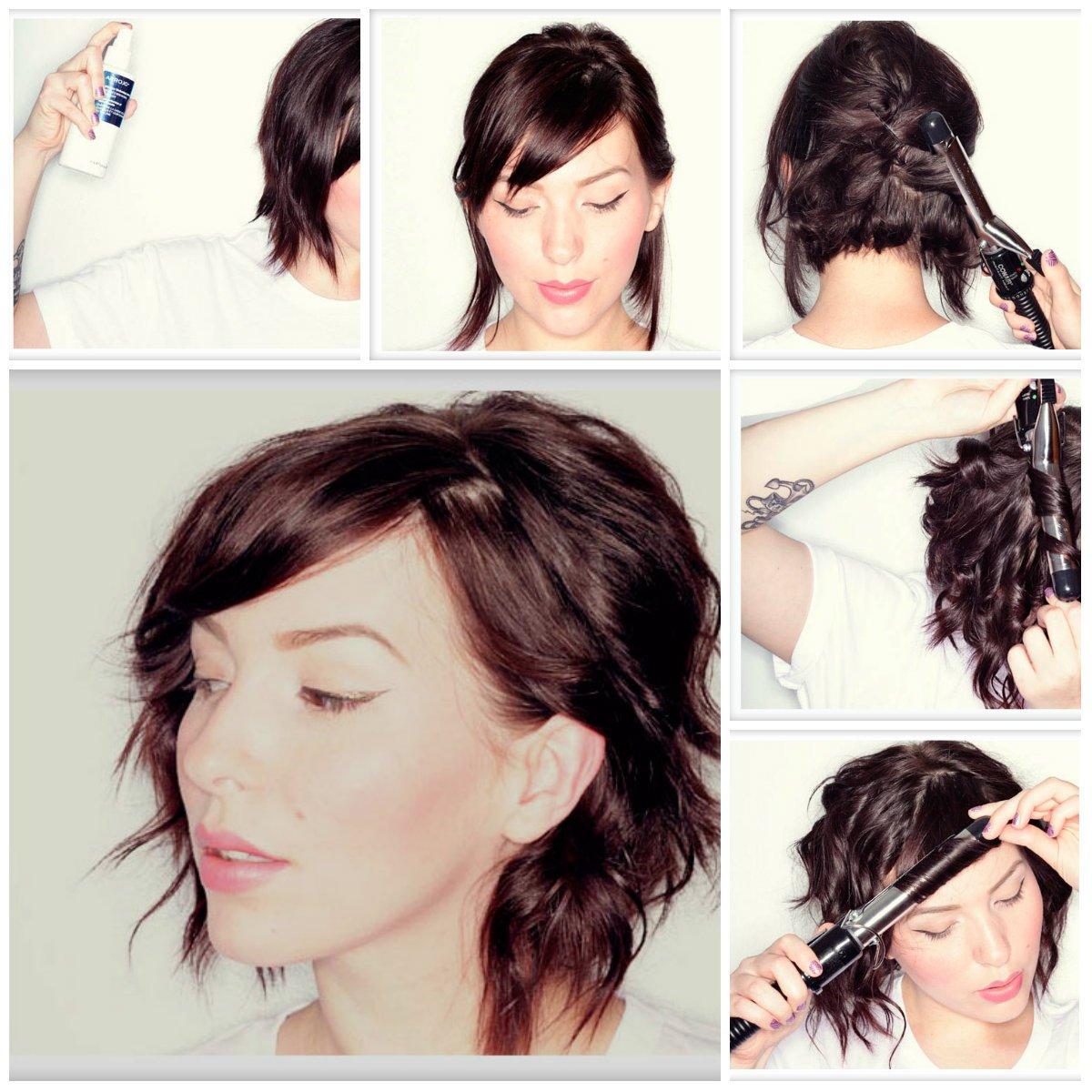 Простые прически на короткие волосы своими руками в домашних условиях 95