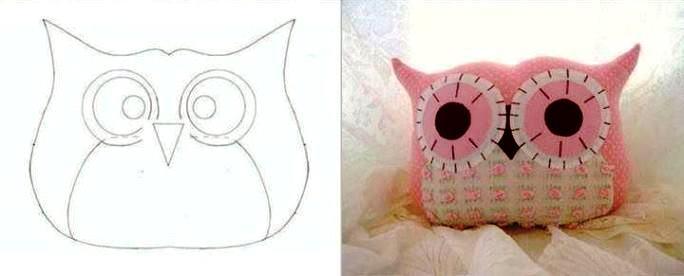 Как сделать своими руками подушку сову