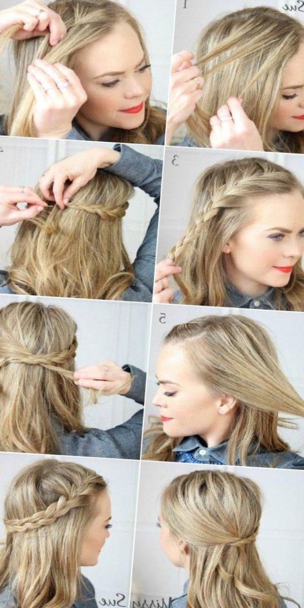 Быстрые повседневные прически для длинных волос своими руками 14