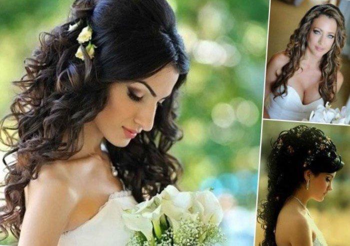 свадебные прически с большими локонами