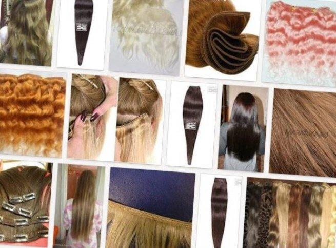 Стильные прически из накладных волос