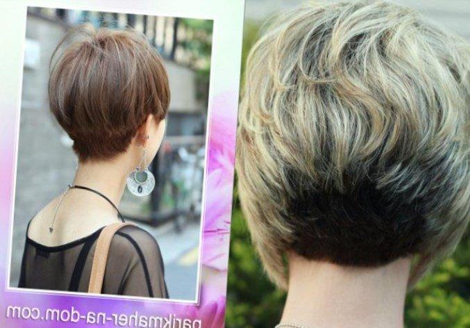 Короткие стрижки вид сбоку и сзади фото