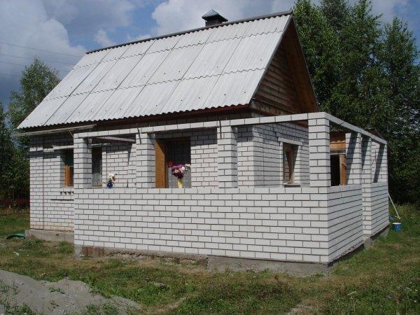 Пристроить веранду к кирпичному дому своими руками видео