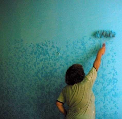Как необычно покрасить стены своими руками 148