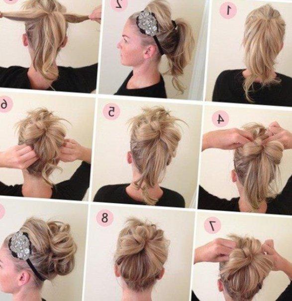 Как сделать прическу самой для средних волос фото