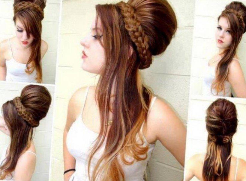 Прически из длинных волос своими руками для подростков