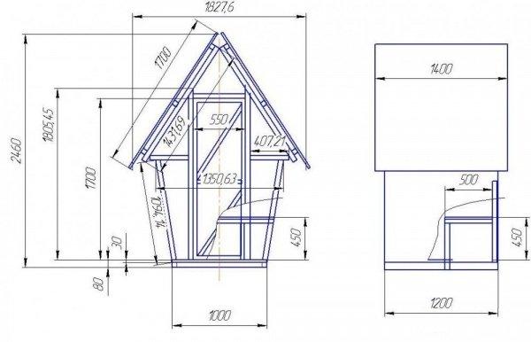 Схема постройки туалет своими руками